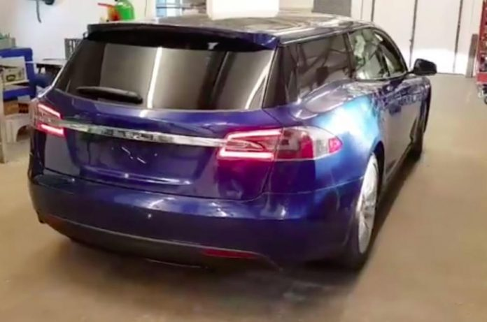 tesla shooting brake